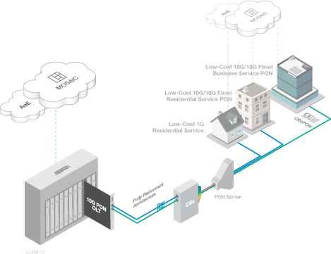 Fiber to the home for Architecture ftth